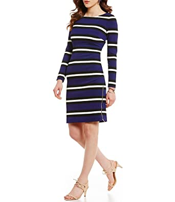 760e0327166 Antonio Melani Lollie Striped Pique Sheath Dress at Amazon Women s ...