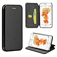 LUXMO Apple iPhone 6 Plus/6S Plus Splendid Series Leather Hard Cover Flip Wallet Case with Card Holders – Black