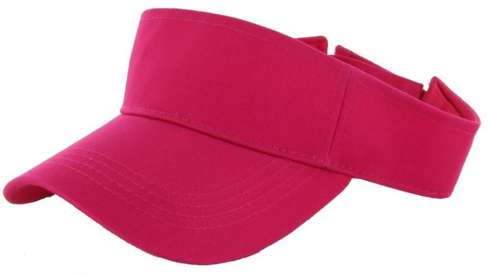 Hot Pink_(US Seller)Outdoor Sport Hat Sun Cap Adjustable Velcro