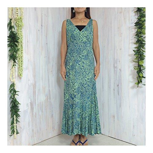 正しく消化器ウィンクウェリナ welina ロングドレス DY04 サイズ L hawaii ハワイ ハワイアン リゾート ウェディング 結婚式 参列 パーティー 普段着