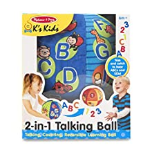 Melissa & Doug K's Kids 2-in-1 Talking Ball Educational Toy - ABCs and Counting 1-10