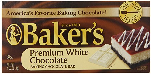 Bakers Premium White Chocolate (Baker's Premium White Chocolate, Baking Chocolate Bar, 4.0 Ounce (Pack of 12))
