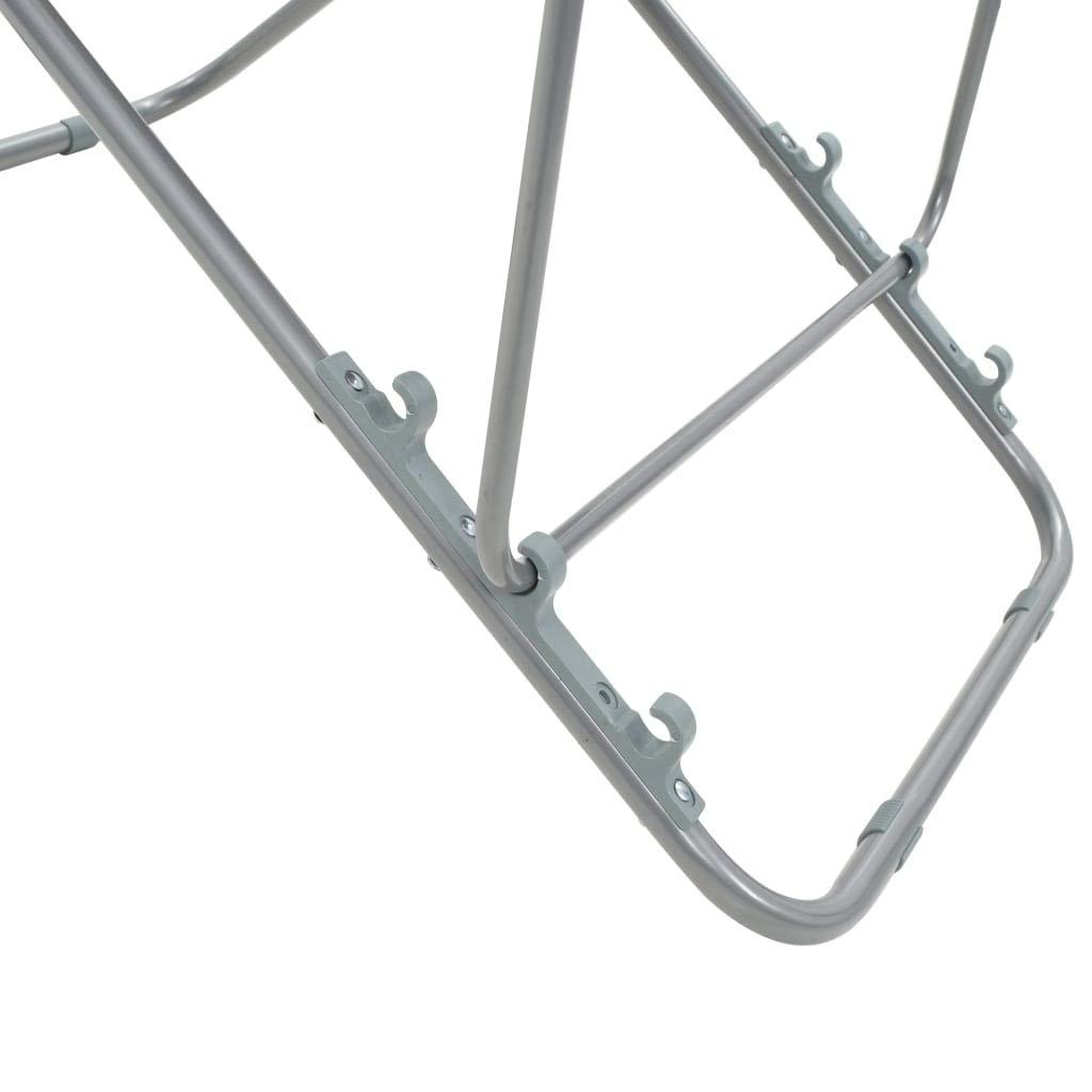 2 Unidades Silla de Playa Plegable Reclina en 3 Posiciones Acero y Tela Oxford 75 x 57 x 99 cm Azul Tidyard