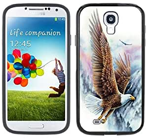 Soaring Eagle Handmade Samsung Galaxy S4 Black Bumper Hard Plastic Case by supermalls