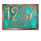 Stickley Address Plaque 12.5x8.75 - Raised Copper Verdi Coated