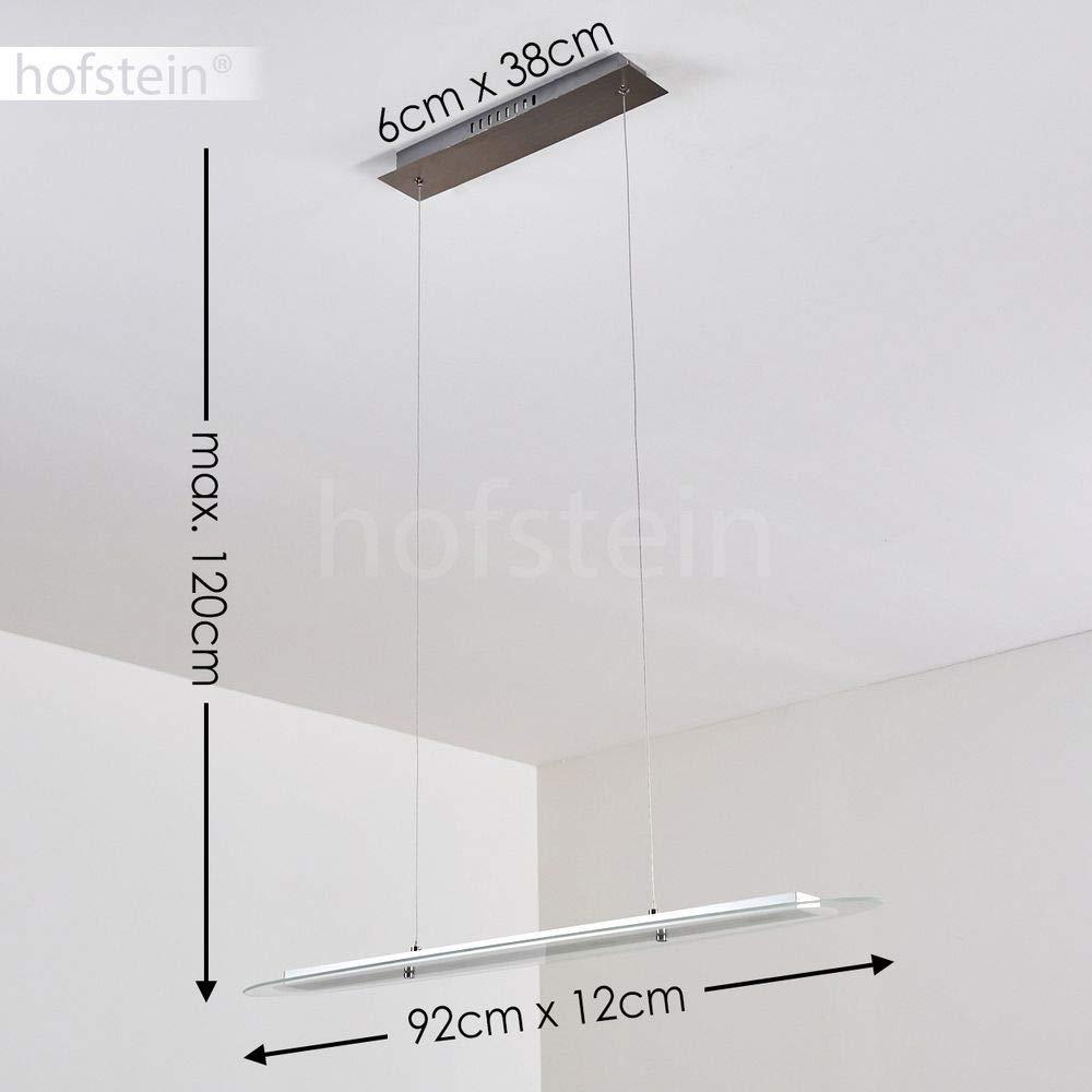 moderne Wohnzimmerlampe 92cm L/änge 320 Lumen in der H/öhe verstellbar Ovale LED-H/ängeleuchte dimmbar aus Glas 3000 Kelvin Esszimmer Lampe 1-flammige Pendelleuchte 4 x 4 Watt