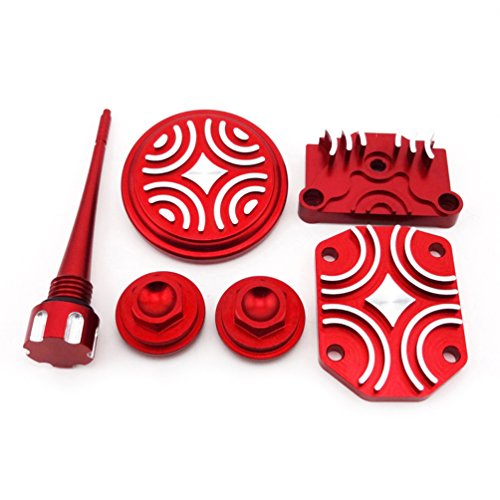 - XLJOY Red Engine Dress Up Kit Tappet Cover for Chinese 110cc 125cc ATV Quad Dirt Pit Bike