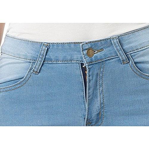 Denim Plus amp; Stretchy Zhuhaitf Size Skinny Elastic Jeans for Pants Blue Joli Women Mode Jeggings Blue Fitted qU4qIwPgn