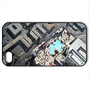 Vertigo View from The Stratosphere in Las Vegas - Case Cover for iPhone 4 and 4s (Modern Series, Watercolor style, Black)