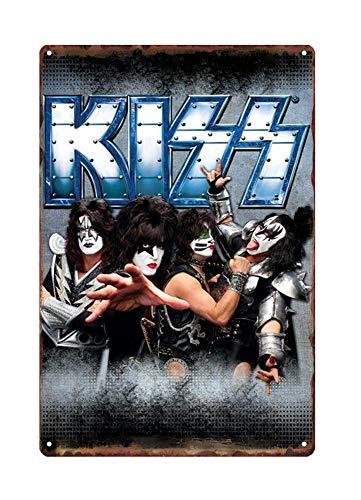 WholesaleSarong Kiss American Rock Band Metal tin Sign Collectible Wall Art Home Decor