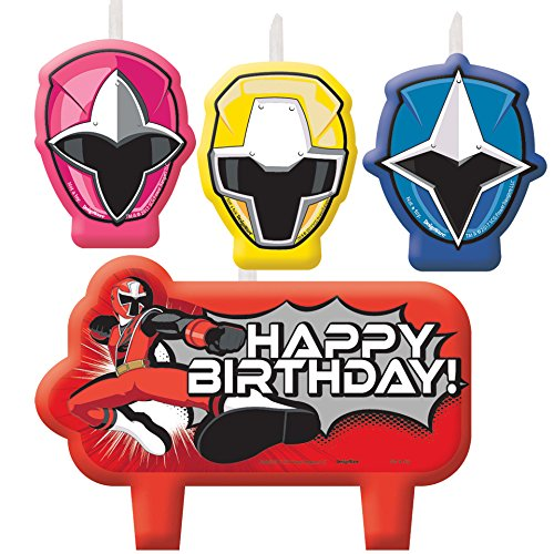 Cheap Amscan Power Rangers Ninja Steel Candle Set free shipping