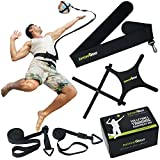 SurviveBall Volleyball Training Equipment Aid – Practice Overhand Serve, Spike, Arm Swings, Hitting. Adjustable Waistband – eBook & Video - Includes 60 & 100 in. Adjustable Cords