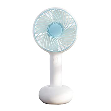 JINRU 4 Inches Mini Fan,Silent Portable USB Built-in Rechargeable for Indoor Office and Outdoor Sports Travel,Black