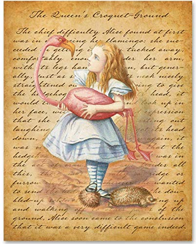 Alice in Wonderland - The Queen's Croquet-Ground - 11x14 Unframed Alice in Wonderland Print - Makes a Great Gift Under $15 for Disney Fans or Kid's Room from Personalized Signs by Lone Star Art