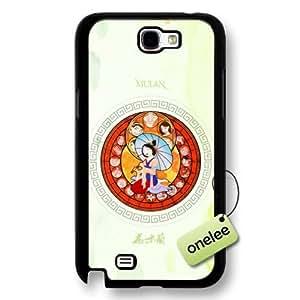 Disney Cartoon Mulan Hard Plastic Phone Case & Cover for Samsung Galaxy Note 2 - Black