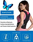 """Back Support Brace for Women&Kids Lower Back Pain Relief,The Best Medical Adjustable Posture Corrector,Lumbar Back Belt for Sciatica Pain,Improve Thoracic Kyphosis (M(28''-33""""))"""