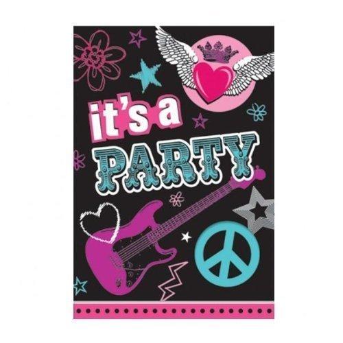 Rocker Princess Folded Invitations 8ct ()