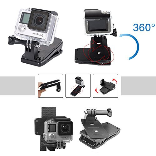 51eQUuhrXYL - VANWALK 25-1 Accessories Kit for Gopro 4,3+,3,2, SJ4000 SJ5000 SJ6000 Camera / Chest Harness Mount / Head Strap / Gorpo Selfie Stick / Bike Handlebar Mount / Three-way Adjustable Pivot Arm