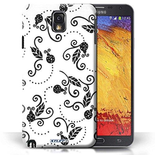 Etui / Coque pour Samsung Galaxy Note 3 / Noir / Blanc conception / Collection de Motif Coccinelle