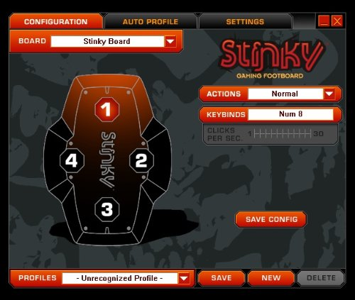 Stinky Gaming Footboard Foot Controller - PC