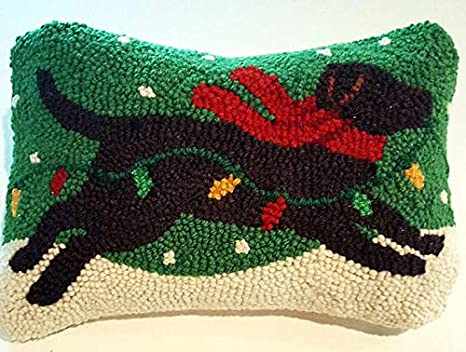 Amazon.com: Peking Handicraft - Almohada de lana con gancho ...