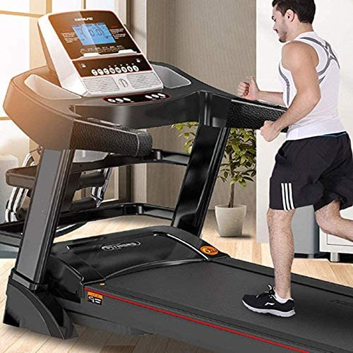 YFFSS Running Machines Desk Treadmill Folding Electric Treadmill, Adjustable Speed, LCD Screen, Real-Time Video Streaming Multifunctional Blue Screen Folding Walking Treadmill for Home and Office 2