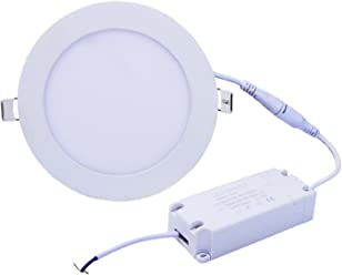 EEG LIGHTING 12W 6-inch Dimmable Round LED Panel Light 960lm Ultra-thin 4000K
