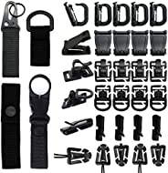 34 PCS Molle Attachments Set Tactical Gear Clip for Webbing Strap Molle Bag Tactical Backpack Vest Belt - Key