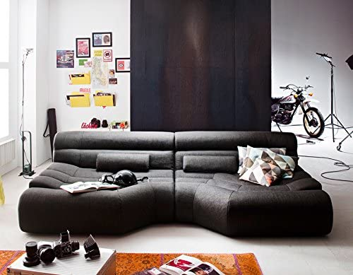 XXL Sofa Tara Big Sofa Wohnlandschaft Stoff - Big Sofa