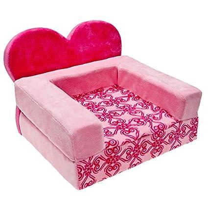 Good Build A Bear Workshop Pink Heart Foldout Bed For Teddy Bear