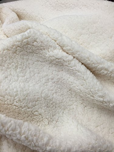 Ivory Cuddle Minky Sherpa Fleece,lamb Wool Design Fabric.Sold By The (Wool Fleece Fabric)