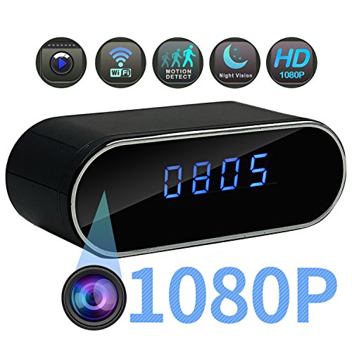 2018 New Spy Hidden Camera in Clock-Mini WiFi 1080P HD Wireless Smart Video Recorder Camera-140° Degree Wide Angle Real-time Video-Home Security Remote Monitoring-Night Vision Motion Detection