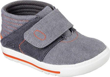 Skechers Infant/Toddler Boys' Lil Lad High Top,Charcoal/Orange,US 9 M