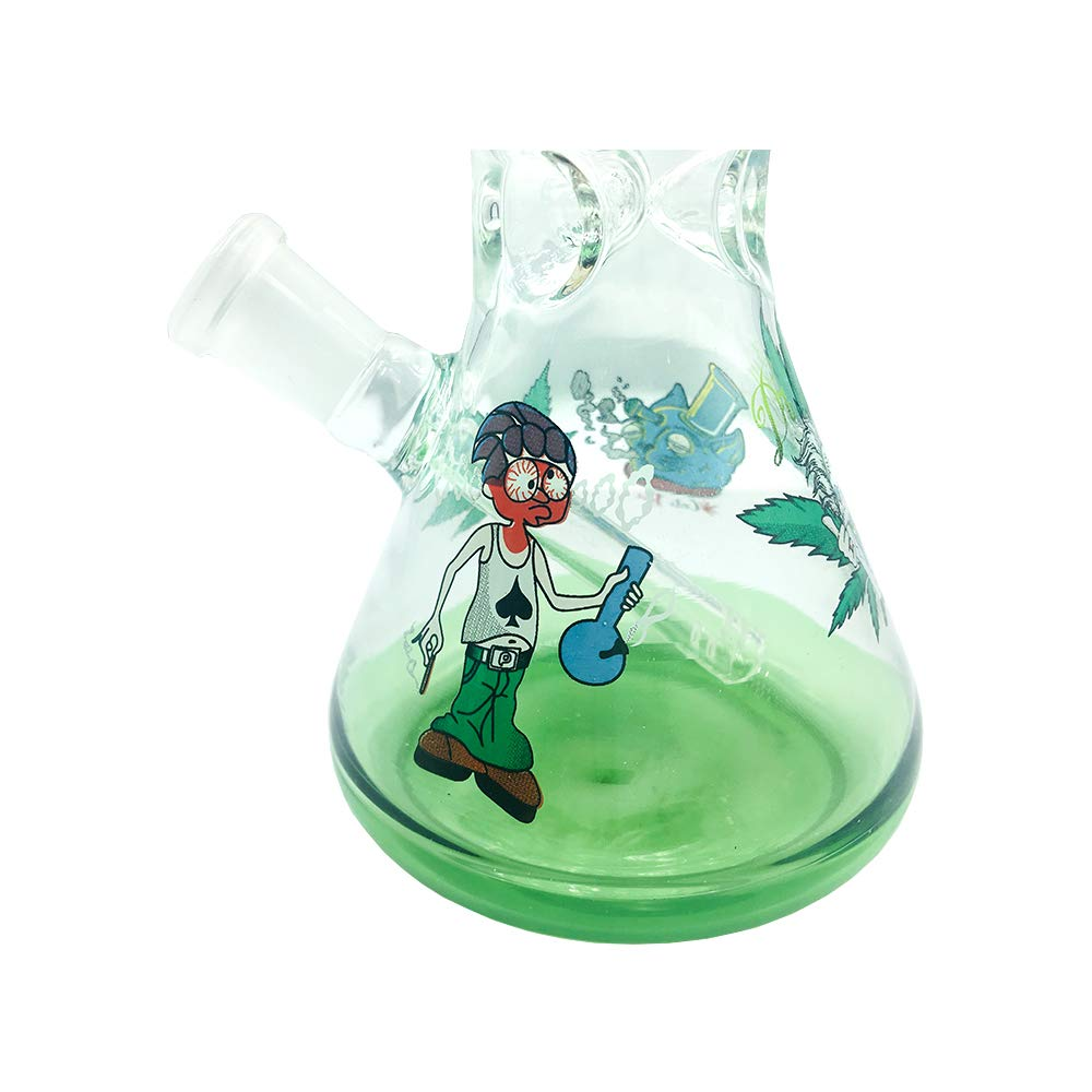 Very Thick and Heat Resistant,Water Big Chamber Bub Percolator MYLL 13.4 Inch Green Glass Bottle