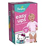 Pampers Easy Ups Training Underwear, Girls Size 5, 3T-4T, 104 Count