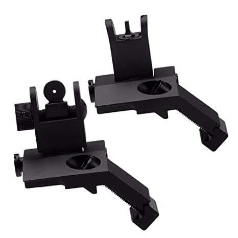 Amazon com: Backup Iron Sight for AR15 Airsoft Tactial Front