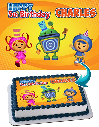 (Team Umizoomi Edible Image Cake Topper Personalized Icing Sugar Paper A4 Sheet Edible Frosting Photo)