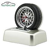 Autohome® Car Lover Rotating Tire Alarm Clock with Real Loud V8 Engine Ringer 3D Unique Alarm Clock
