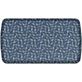 GelPro Elite Premier Anti-Fatigue Kitchen Comfort Floor Mat, 20x36'', New Leaves Deep Sea Stain Resistant Surface with therapeutic gel and energy-return foam for health & wellness