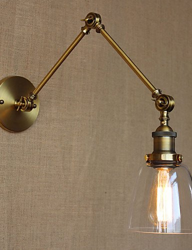 Indoor modern LED Wall lamp Retro Vintage Exclusive Hotel Lobby Bedroom Bedside RACK Antique Bronze Decorative Wall Sconce , yellow-110v