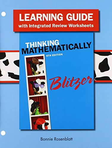 Thinking Mathematically With Integrated Review Books a La Carte Edition + Mml Student Access Card and Worksheets