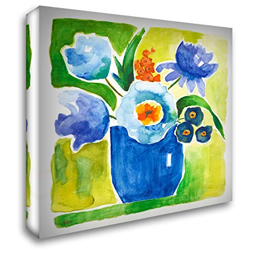 Sunny Day Bouquet IV 48x48 Extra Large Gallery Wrapped Stretched Canvas Art by Nan