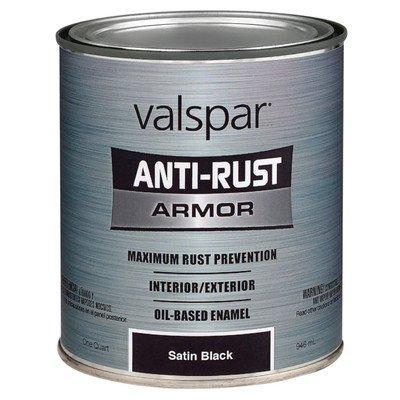 Valspar 1 Quart Satin (Valspar 21825Q Satin Black Enamel - 1 Quart)