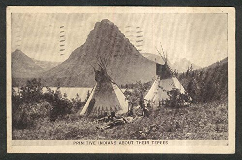 Teepee Postcard (US Department of the Interior Bureau of Indian Affairs Teepees postcard 1925)