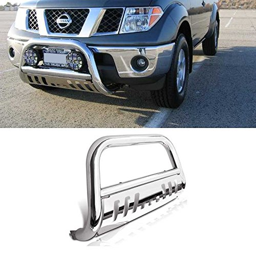 Mifeier Stainless Steel Bull Bar Bumper Grille Guard For 2005-2017 Nissan Frontier/Xterra 2005-2007 Nissan Pathfinder