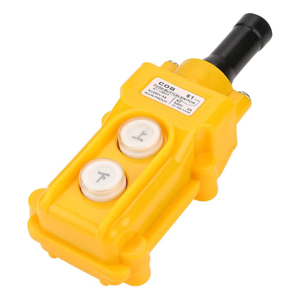 Crane Chain Hoist Push Button Switch Lifting Pendant Controller COB-61 Hoist 2 Buttons Control System for Hoist Crane