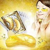 10 Pairs New Crystal 24K Gold Powder Gel Collagen