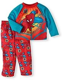 Marvel Web-Crawler Spiderman 2pc Little Boys Pajamas Sleepwear (2T)