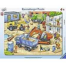 Ravensburger Puzzle 06120 – Grandes Obras Vehículos 40 Piezas Marco Puzzle