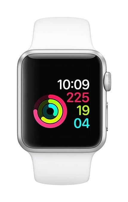 7100efcdf Apple Watch Series 1 38mm Smart Watch (Silver Aluminum Case, White Sport  Band)
